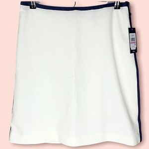 TOMMY HILFIGER Chambray Trim Ivory Pencil Skirt NEW